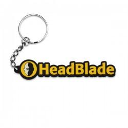 HeadBlade Text Keychain